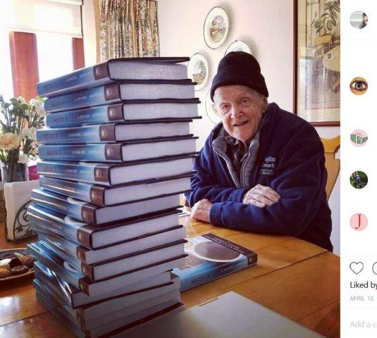 Joseph Byk with Books